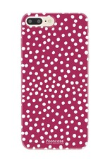 Apple Iphone 8 Plus - POLKA COLLECTION / Bordeaux Rood