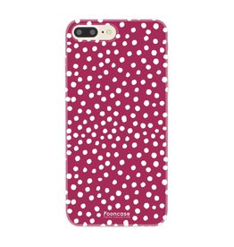 FOONCASE Iphone 8 Plus - POLKA COLLECTION / Bordeaux Red