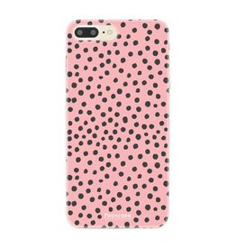 FOONCASE Iphone 8 Plus - POLKA COLLECTION / Roze
