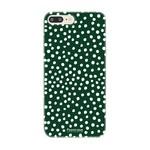 FOONCASE Iphone 8 Plus - POLKA COLLECTION / Donker Groen