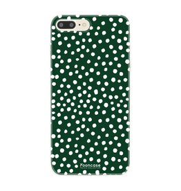 FOONCASE Iphone 8 Plus - POLKA COLLECTION / Donker Groen