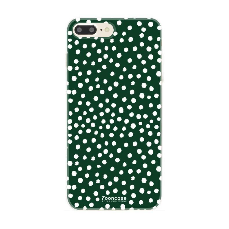 Apple Iphone 8 Plus - POLKA COLLECTION / Dunkelgrün
