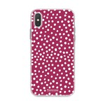 FOONCASE Iphone X - POLKA COLLECTION / Bordeaux Rood