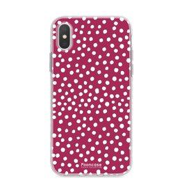 FOONCASE Iphone X - POLKA COLLECTION / Bordò Rosso