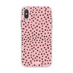 FOONCASE Iphone X - POLKA COLLECTION / Roze