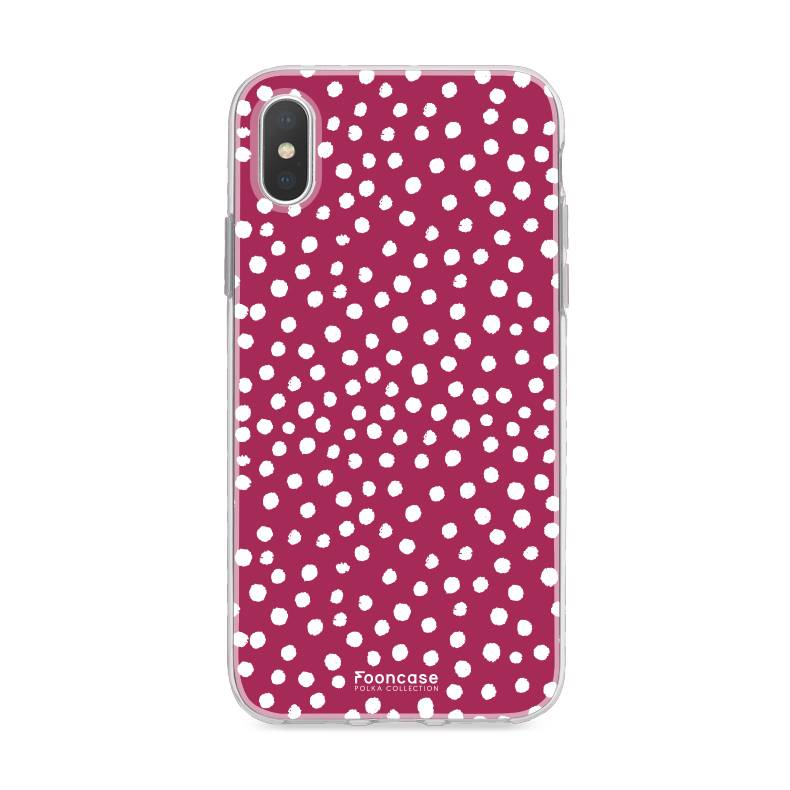 Apple Iphone XS - POLKA COLLECTION / BordeauXS Rood