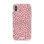 FOONCASE Iphone XS - POLKA COLLECTION / Roze
