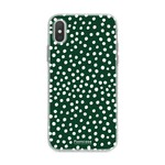 FOONCASE Iphone XS - POLKA COLLECTION / Dark green