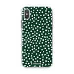 FOONCASE Iphone XS - POLKA COLLECTION / Donker Groen