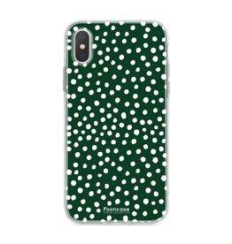 FOONCASE Iphone XS - POLKA COLLECTION / Verde scuro