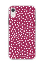 FOONCASE Iphone XR - POLKA COLLECTION / Bordeaux Rot