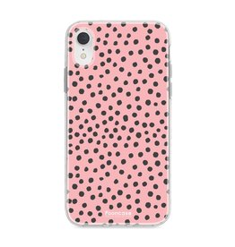 FOONCASE Iphone XR - POLKA COLLECTION / Roze