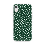 FOONCASE Iphone XR - POLKA COLLECTION / Dark green