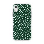 FOONCASE Iphone XR - POLKA COLLECTION / Donker Groen