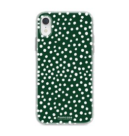 FOONCASE Iphone XR - POLKA COLLECTION / Donker Groen