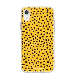 FOONCASE Iphone XR - POLKA COLLECTION / Ocher Yellow