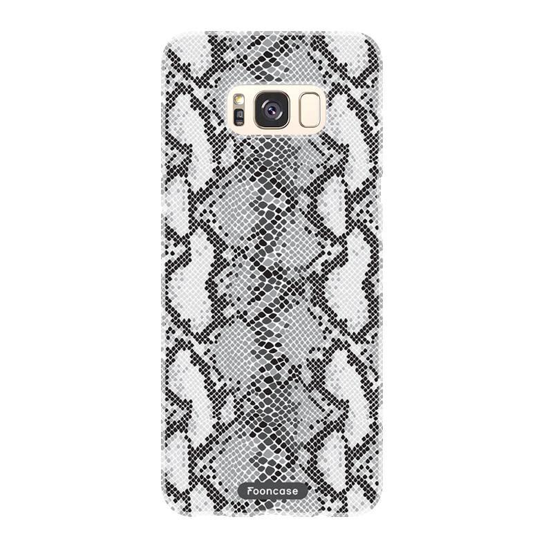 FOONCASE Samsung Galaxy S8 hoesje TPU Soft Case - Back Cover - Snake it / Slangen print