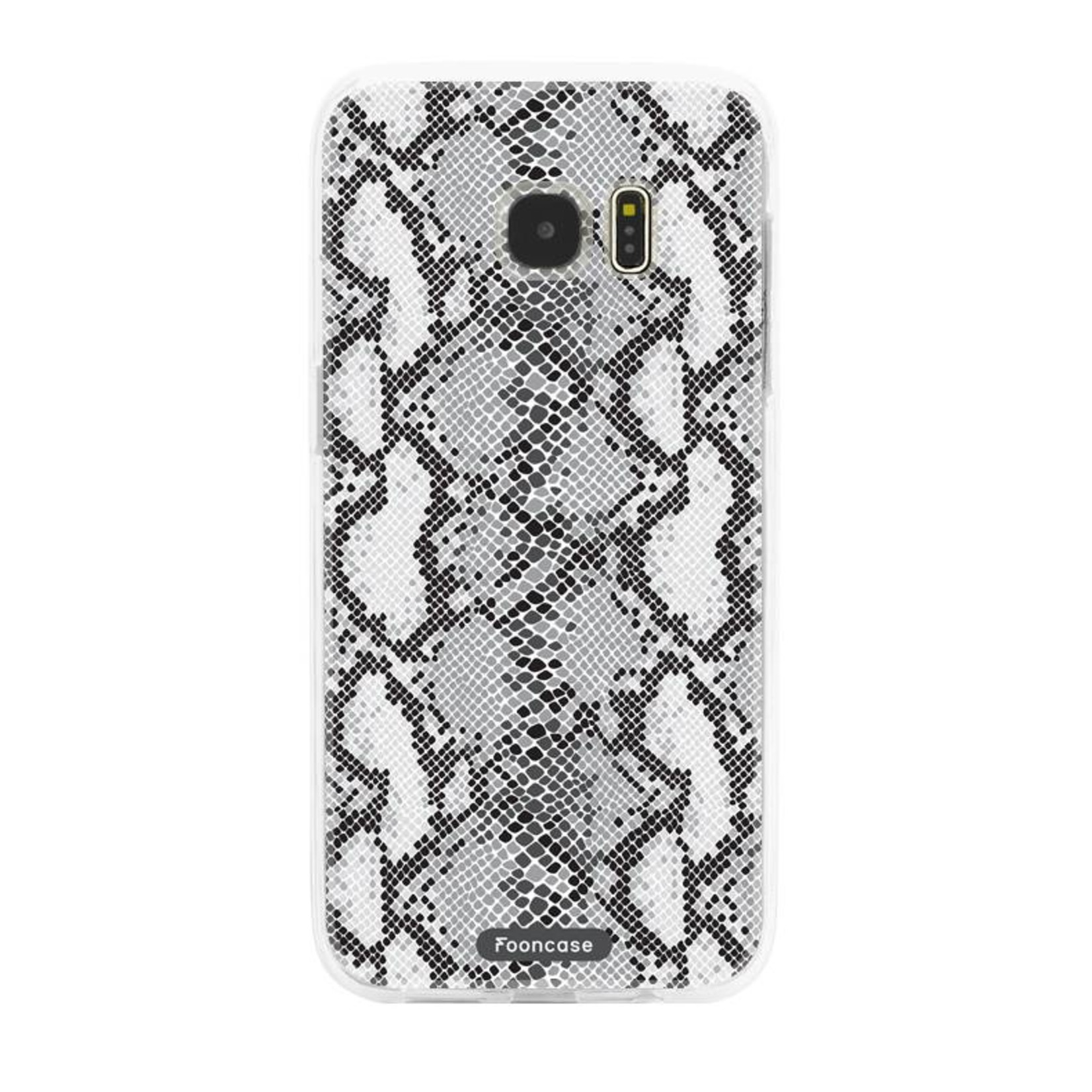 FOONCASE Samsung Galaxy S7 Edge hoesje TPU Soft Case - Back Cover - Snake it / Slangen print
