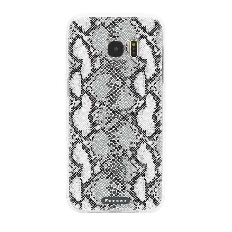 FOONCASE Samsung Galaxy S7 Edge hoesje TPU Soft Case - Back Cover - Snake it / Slangen print