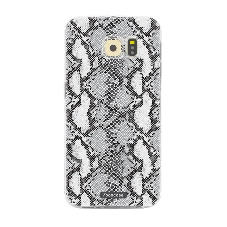 FOONCASE Samsung Galaxy S6 Edge hoesje TPU Soft Case - Back Cover - Snake it / Slangen print