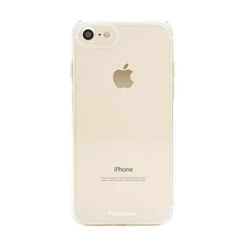 FOONCASE iPhone 8 hoesje TPU Soft Case - Back Cover - Transparant / Doorzichtig