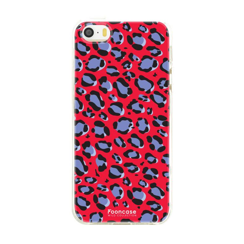 Apple Iphone 5/5S - WILD COLLECTION / Rood