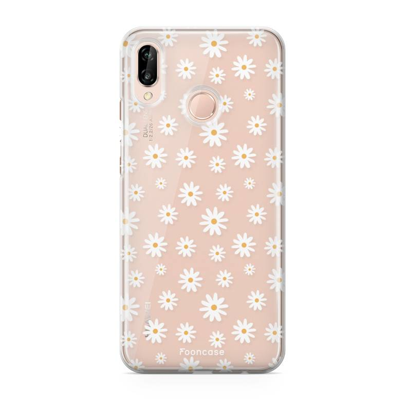 FOONCASE Huawei P20 Lite hoesje TPU Soft Case - Back Cover - Madeliefjes