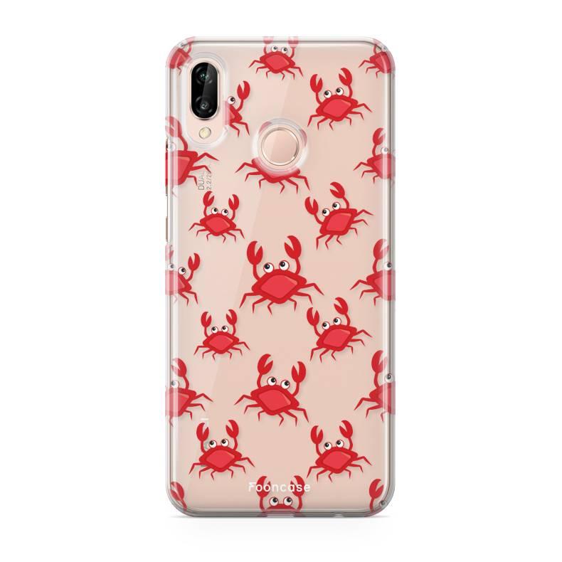 FOONCASE Huawei P20 Lite hoesje TPU Soft Case - Back Cover - Crabs / Krabbetjes / Krabben