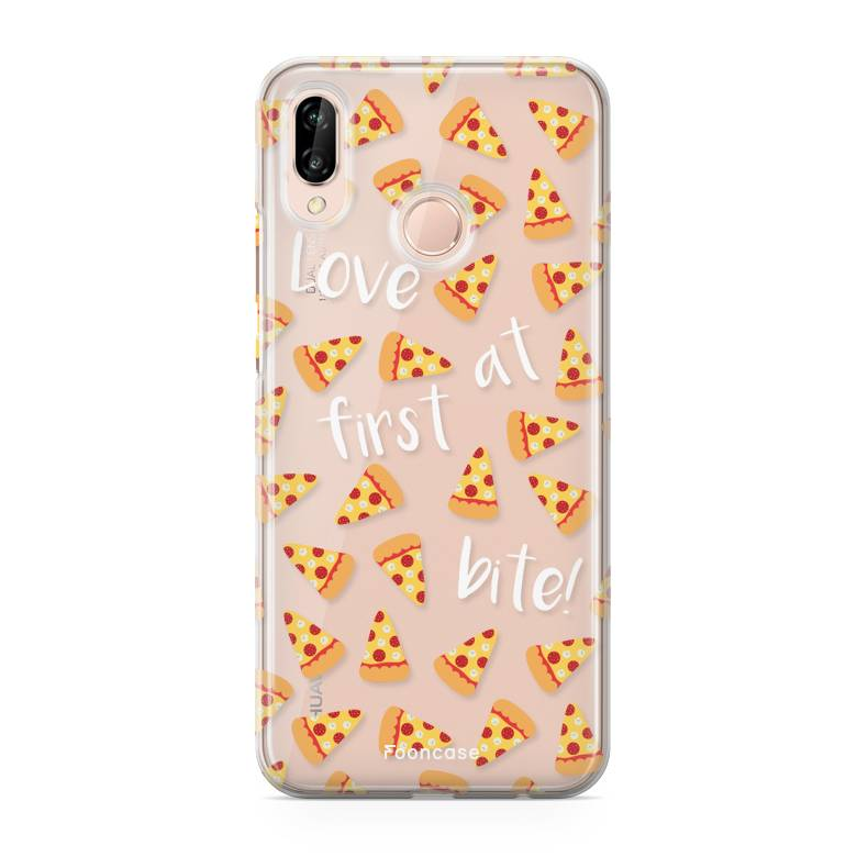 FOONCASE Huawei P20 Lite hoesje TPU Soft Case - Back Cover - Pizza / Food