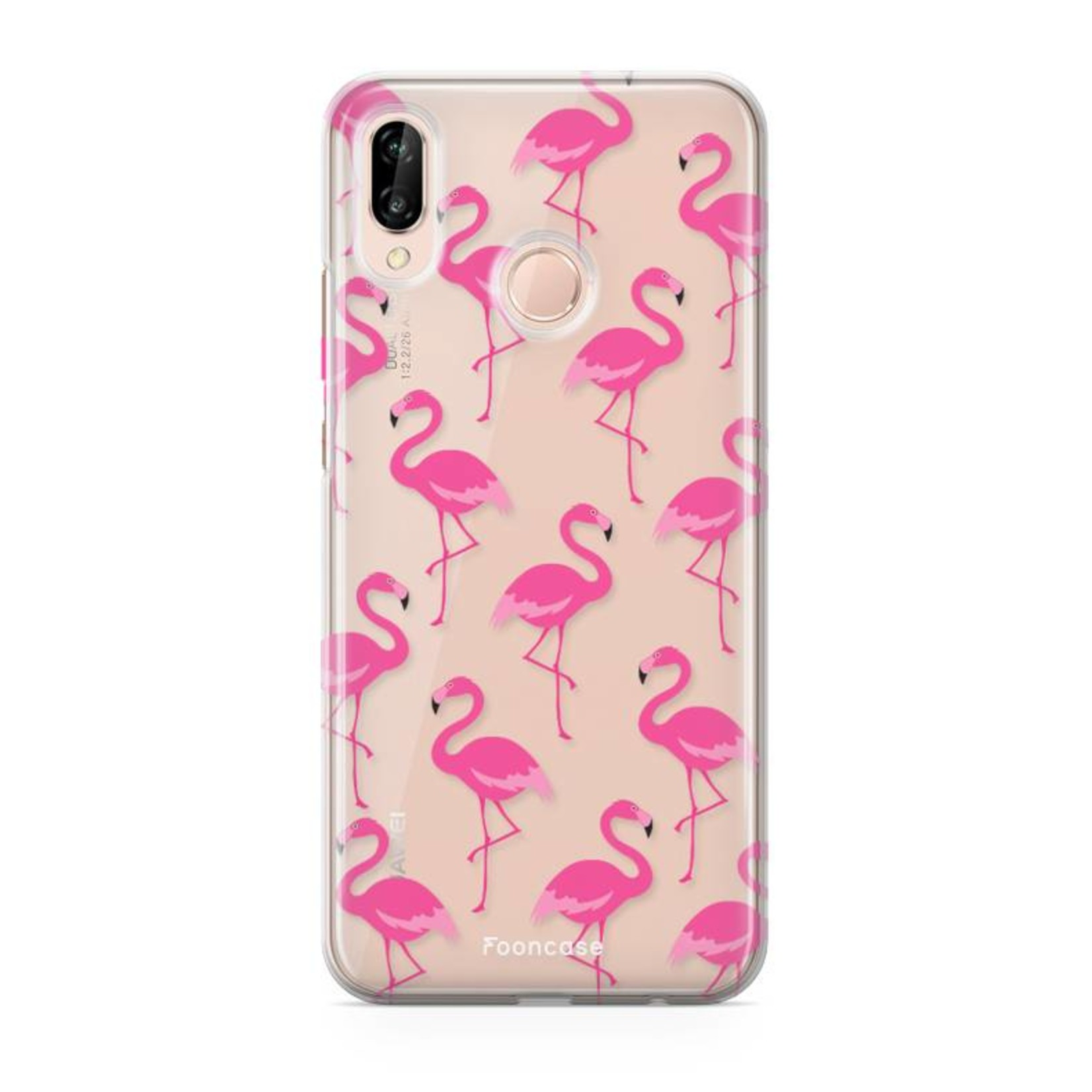 FOONCASE Huawei P20 Lite hoesje TPU Soft Case - Back Cover - Flamingo