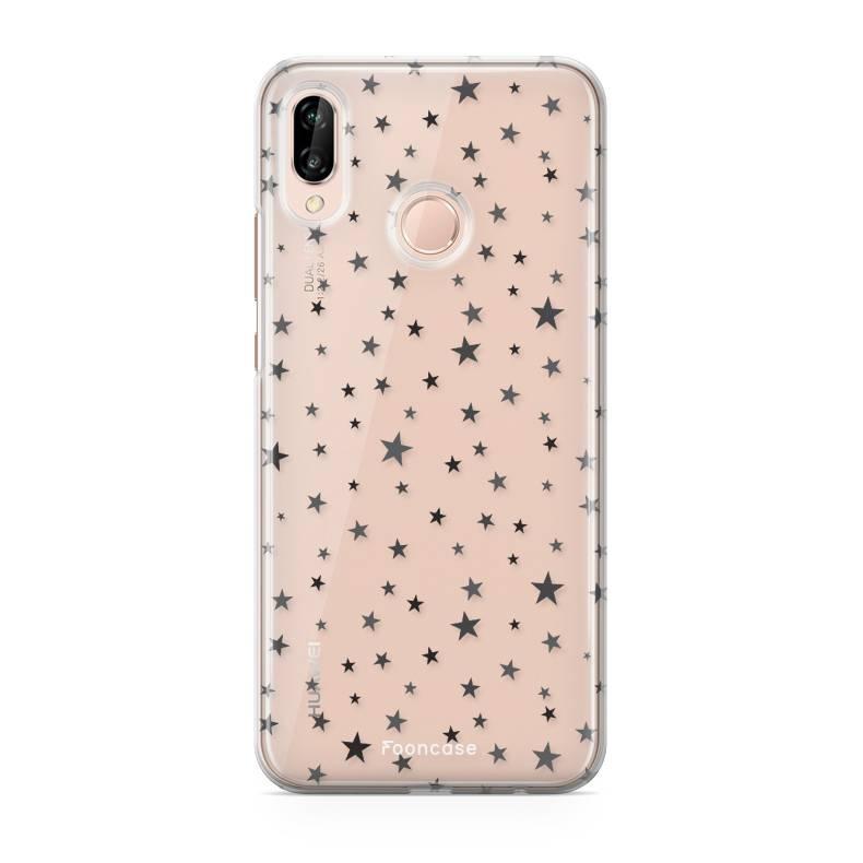 FOONCASE Huawei P20 Lite hoesje TPU Soft Case - Back Cover - Stars / Sterretjes