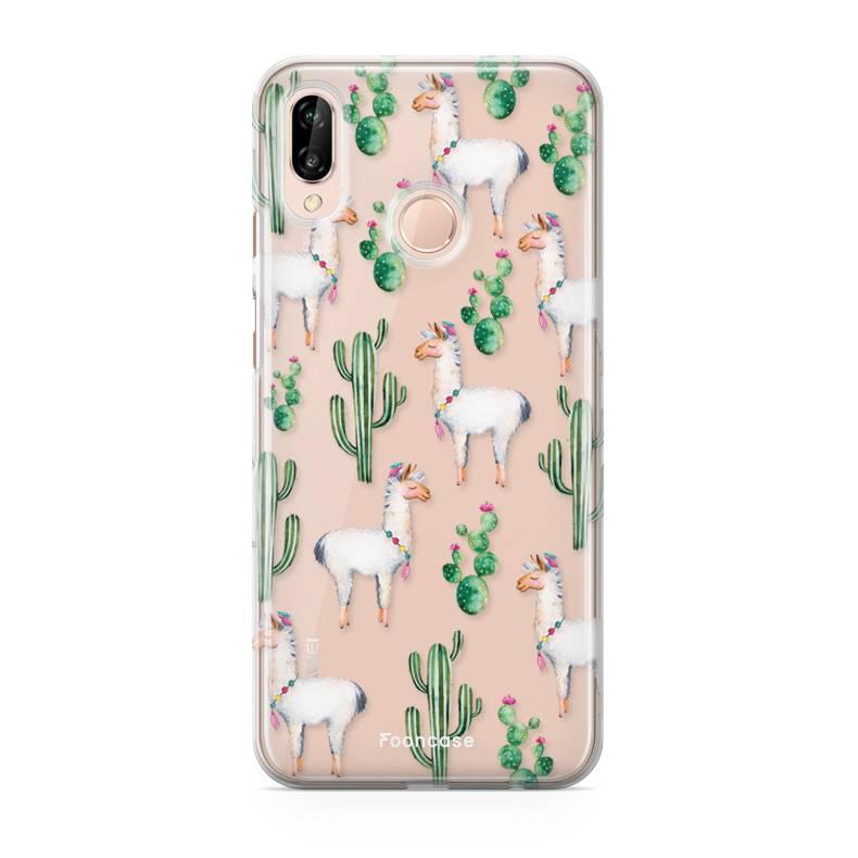 Huawei Huawei P20 Lite hoesje - Alpaca