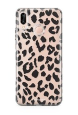 FOONCASE Huawei P20 Lite hoesje TPU Soft Case - Back Cover - Luipaard / Leopard print