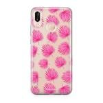 FOONCASE Huawei P20 Lite - Pink leaves