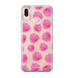 FOONCASE Huawei P20 Lite - Rosa Blätter