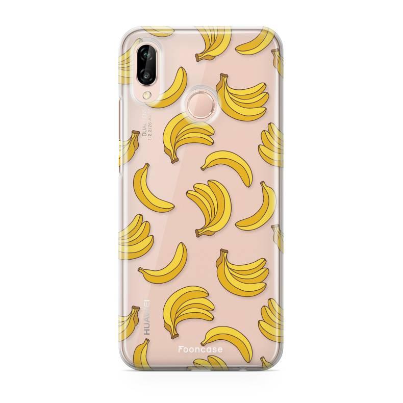 FOONCASE Huawei P20 Lite hoesje TPU Soft Case - Back Cover- Bananas / Banaan / Bananen