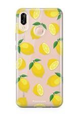 FOONCASE Huawei P20 Lite hoesje TPU Soft Case - Back Cover - Lemons / Citroen / Citroentjes