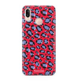 FOONCASE Huawei P20 Lite - WILD COLLECTION / Rood