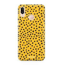 FOONCASE Huawei P20 Lite - POLKA COLLECTION / Ocher yellow