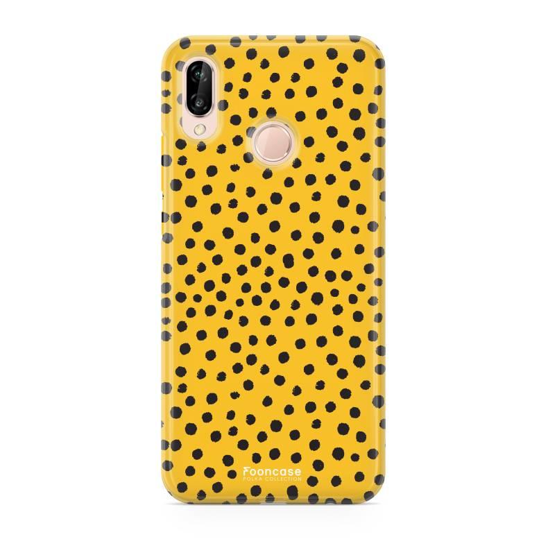 FOONCASE Huawei P20 Lite - POLKA COLLECTION / Ockergelb