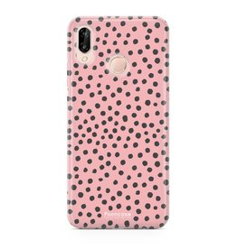 FOONCASE Huawei P20 Lite - POLKA COLLECTION / Roze