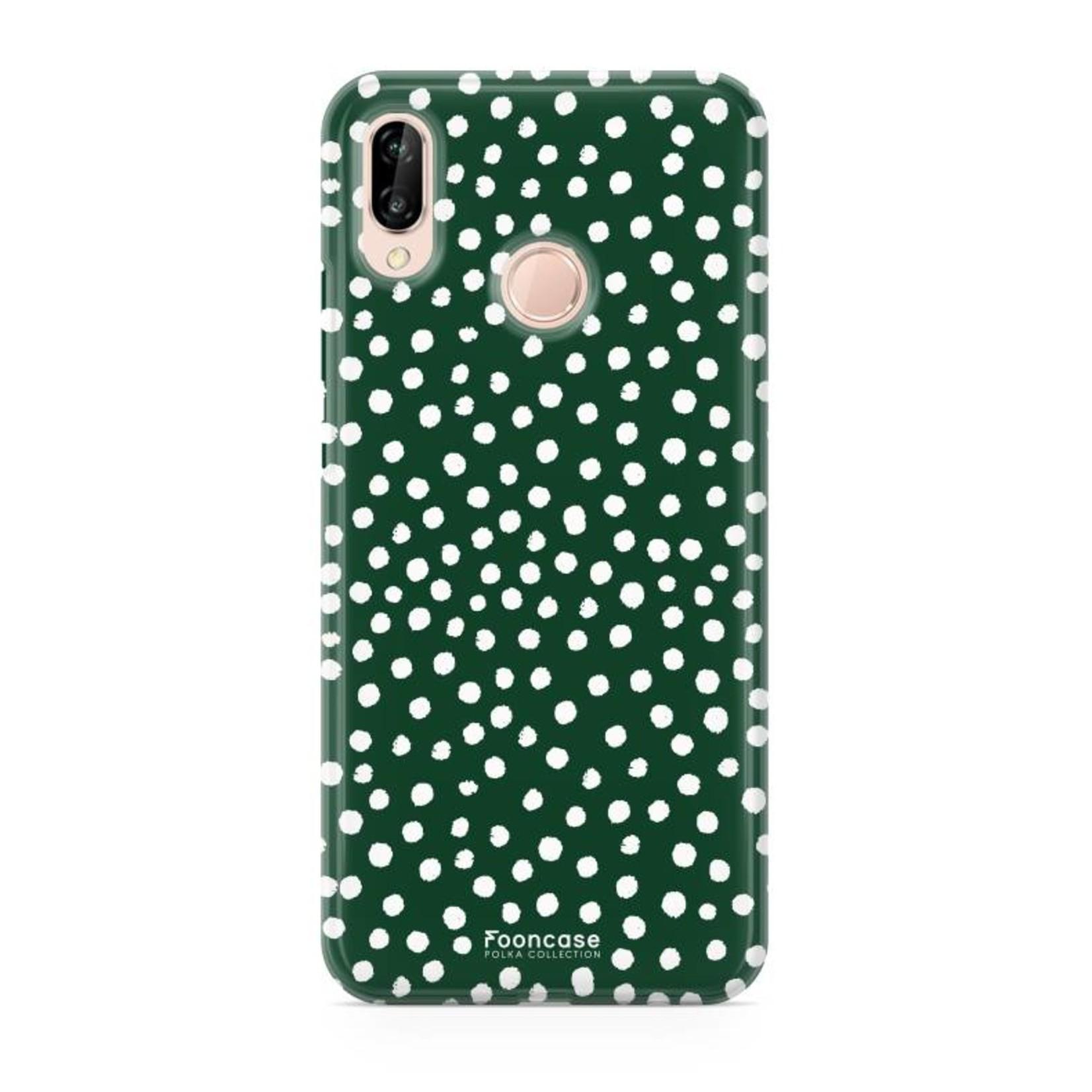 FOONCASE Huawei P20 Lite - POLKA COLLECTION / Grün