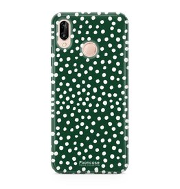 FOONCASE Huawei P20 Lite - POLKA COLLECTION / Groen