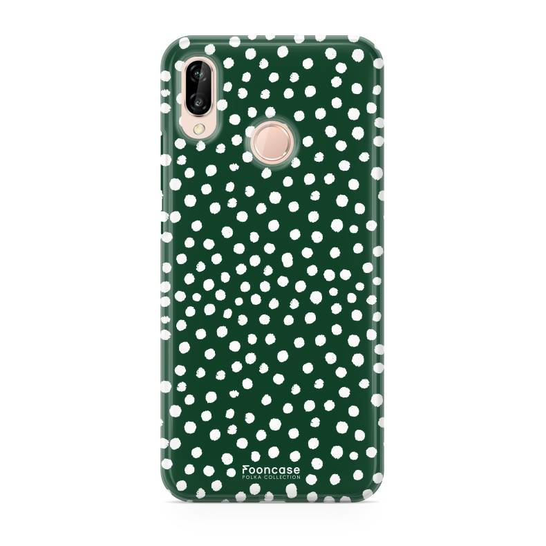 FOONCASE   Polka Collection Verde Cover per Huawei P20 Lite