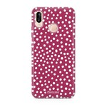 FOONCASE Huawei P20 Lite - POLKA COLLECTION / Rood
