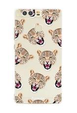 FOONCASE Huawei P9 hoesje TPU Soft Case - Back Cover - Cheeky Leopard / Luipaard hoofden