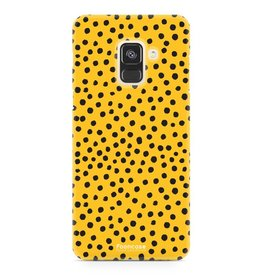 FOONCASE Samsung Galaxy A8 2018 - POLKA COLLECTION / Ocher Yellow