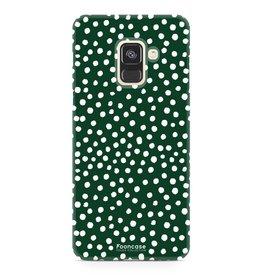 FOONCASE Samsung Galaxy A8 2018 - POLKA COLLECTION / Dark green