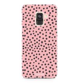 FOONCASE Samsung Galaxy A8 2018 - POLKA COLLECTION / Roze