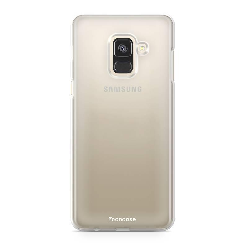 FOONCASE Samsung Galaxy A8 2018 hoesje TPU Soft Case - Back Cover - Transparant / Doorzichtig